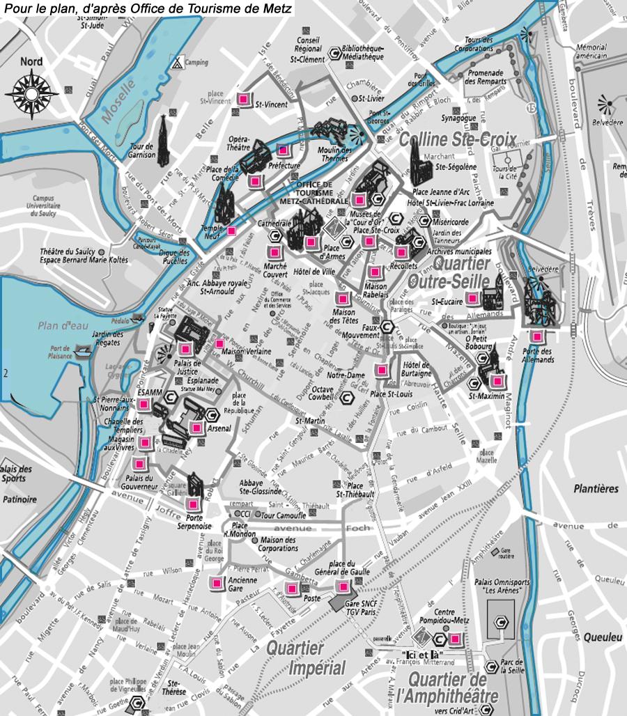 Metz Plan De La Ville